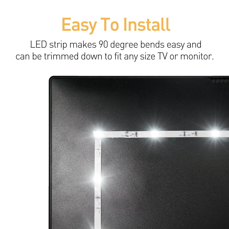 tv usb led light strip. Black Bedroom Furniture Sets. Home Design Ideas