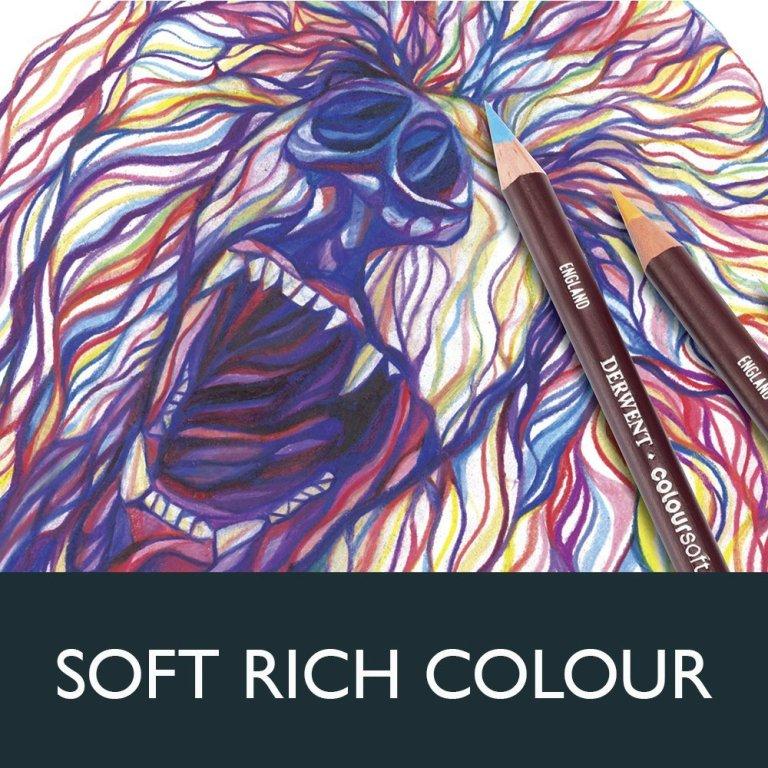 Derwent Colored Pencils Coloursoft Pencils Drawing Art Wooden